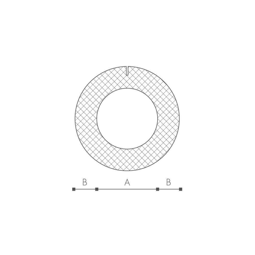 Profil O 13mm PRE-SLIT