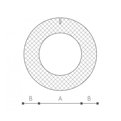 Profil O 25mm PRE-SLIT