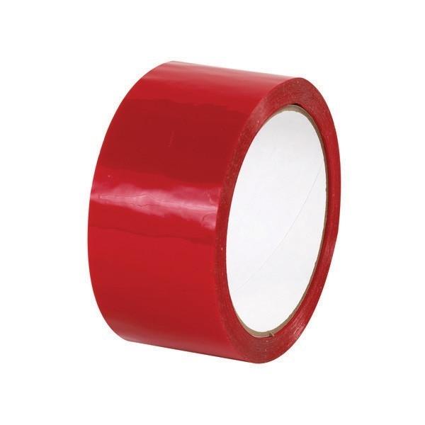 Taśma pakowa akrylowa - czerwona