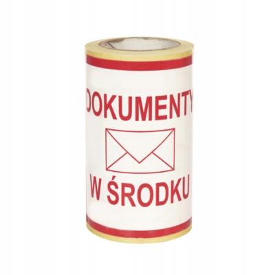 Etykieta - Dokumenty w środku 100x100 / 100